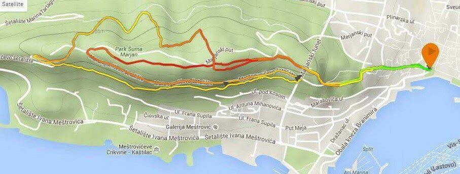 7 kolo EGS lige - Marjan Trail 10km - karta