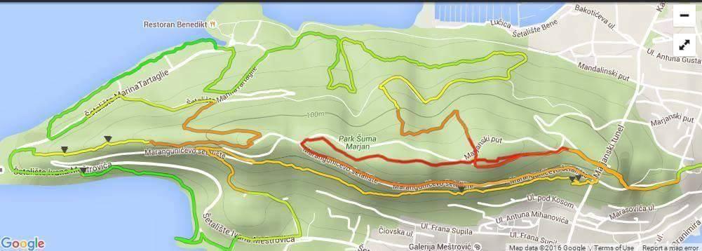 7 kolo EGS lige - Marjan Trail 20km - karta