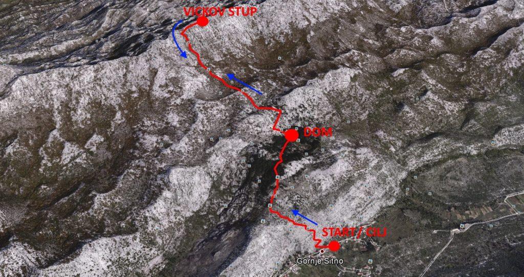 FKT - Sitno Gornje - Vickov Stup - Sitno Gornje