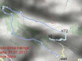3 kolo Strka Trail lige 2017 – karta utkre GPS