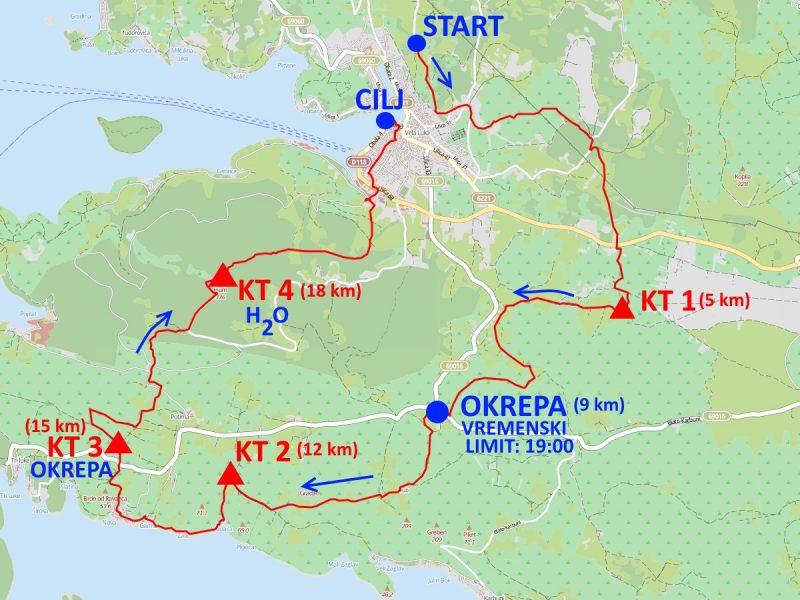 Vela Strka 2018 – Veli Trail karta